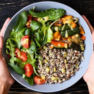 quinoa buddha bowl, gluten-free and vegan buddha bowl recipe
