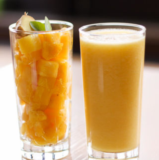 cleansing ginger pineapple smoothie for detox