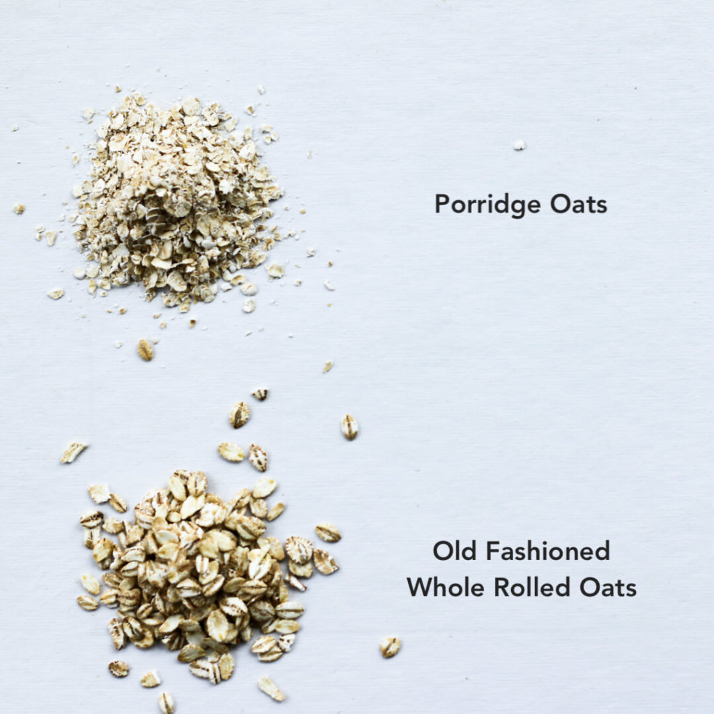 different types of oats for making porridge