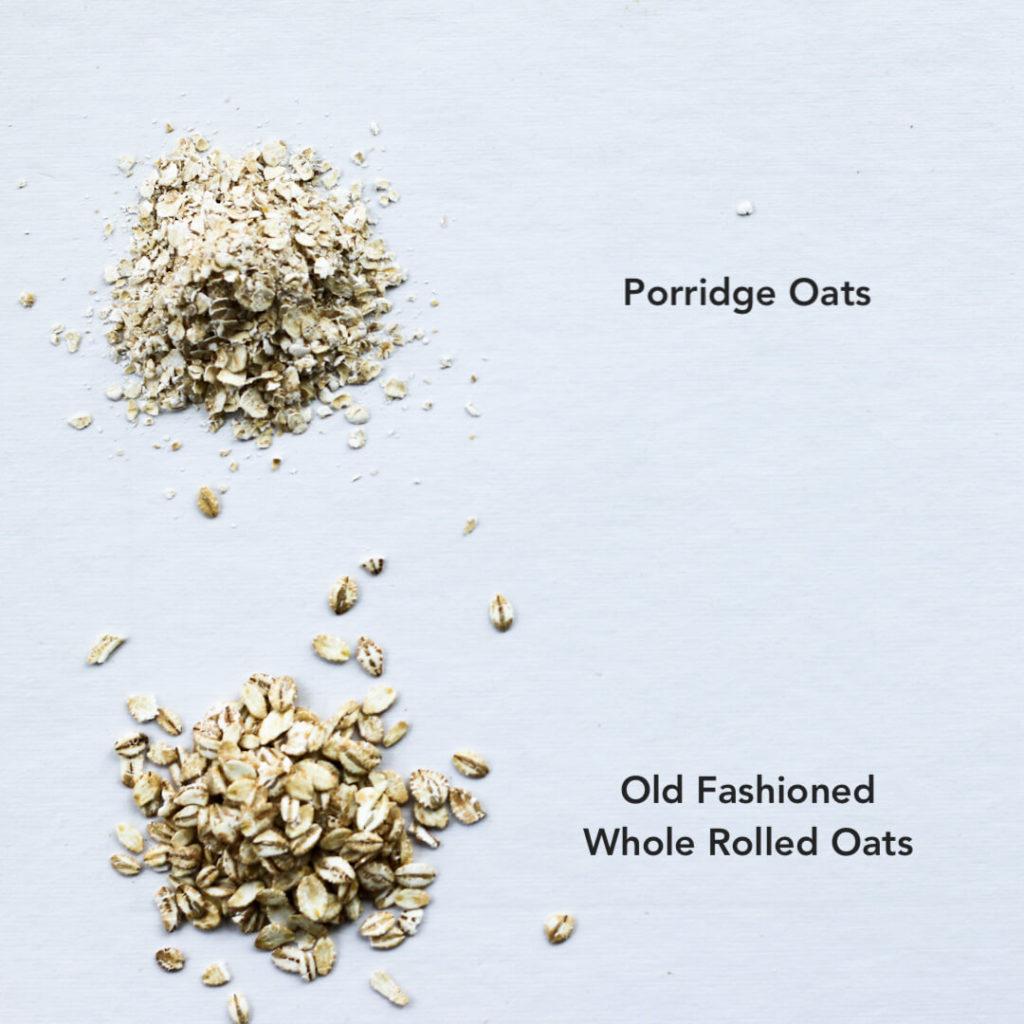 different types of oats for making porridge