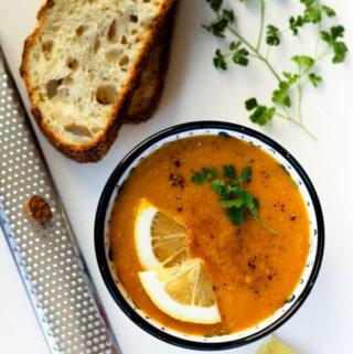 Red Lentil Soup – Vegan