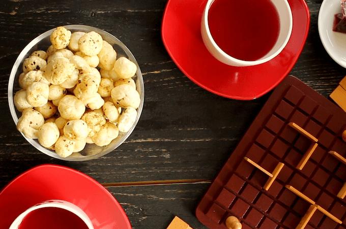 easy tea-time snacks, healthy lunch box snacks, phool makhana recipe