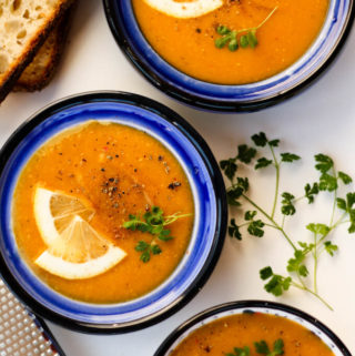 vegan and gluten-free red lentil soup recipe