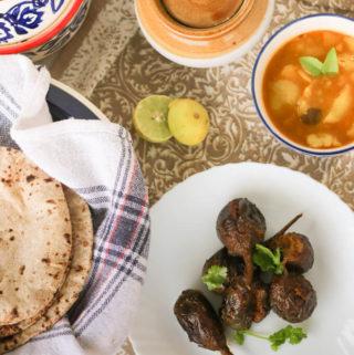 Bharwan Baingan | Vegetarian Stuffed Eggplant