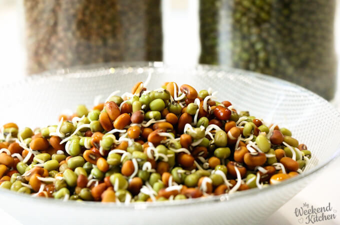 how to sprout moong beans