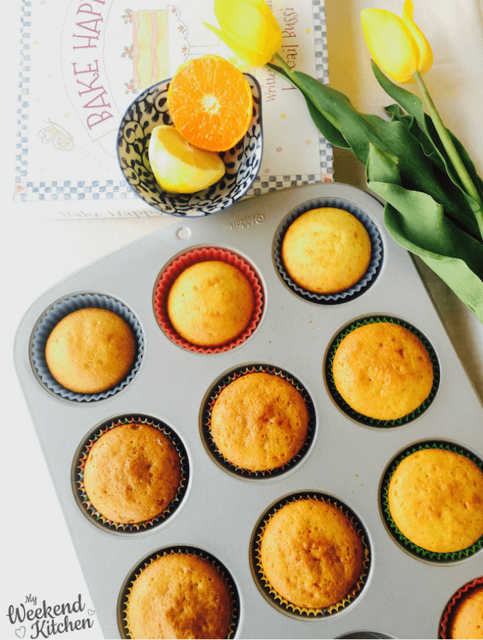 orange and lemon cupcakes recipe, basic cupcakes