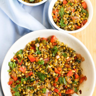 sprouted moong recipes, moong sprout salad