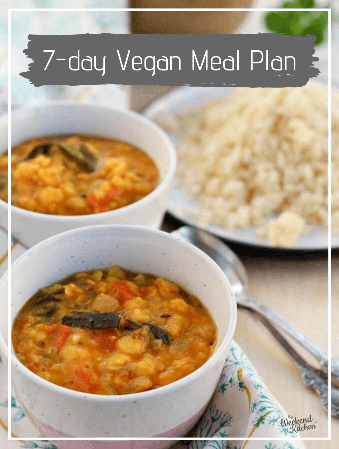 weekly vegan meal plan with recipes