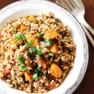 brown rice and lentil pilaf, rice and lentil casserole