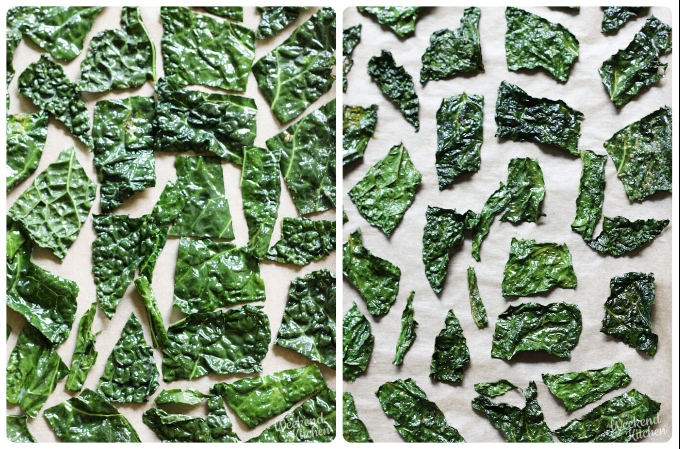 baked kale chips, homemade kale chips