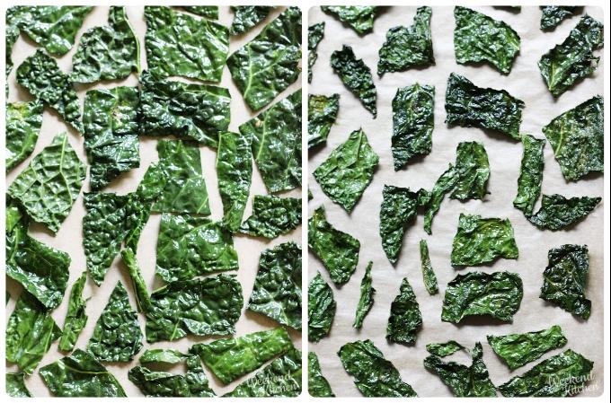 baked kale chips, homemade kale chips