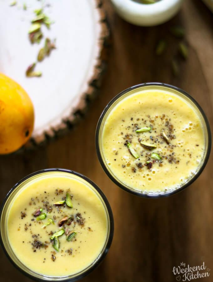 vegan mango lassi recipe with coconut yogurt