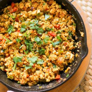 vegan tofu scramble, tofu recipes, tofu bhurji