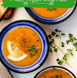 7-day Vegan Meal Plan & Updates – Sept'19