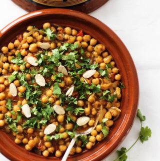 moroccan chickpea tagine, vegetarian tagine recipe
