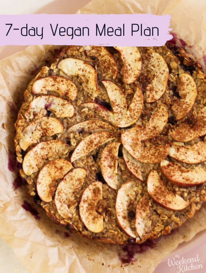 weekly vegan meal plan