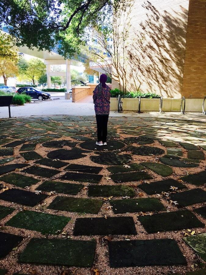a meditative labyrinth walk
