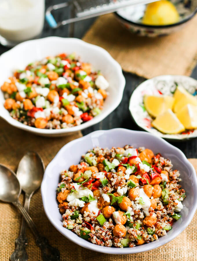 Vegan Roasted Chickpea Quinoa Bowl My Weekend Kitchen