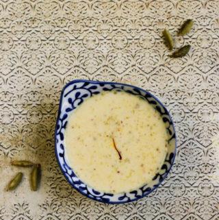 vegan rice pudding, vegan kheer