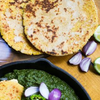 makki ki roti, gluten-free Indian cornmeal bread