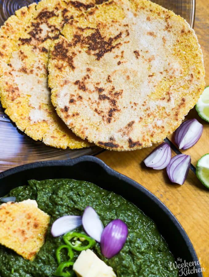 Makki Ki Roti, Indian flatbread, gluten-free bread
