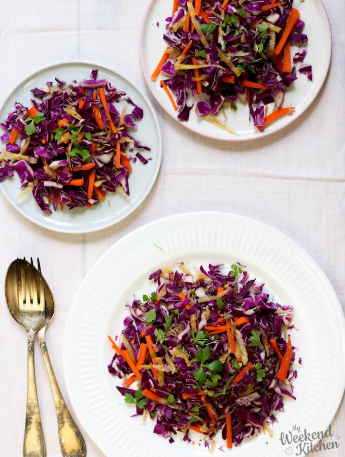 purple cabbage salad, red cabbage recipe
