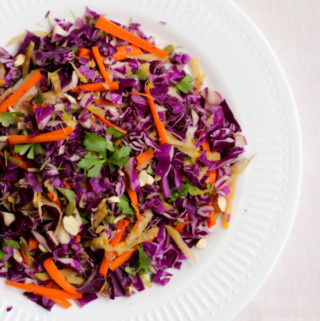 Red cabbage salad, purple cabbage recipe