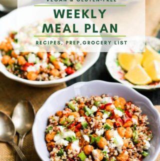 Weekly Vegan Meal Plan & Updates (Feb 2020)