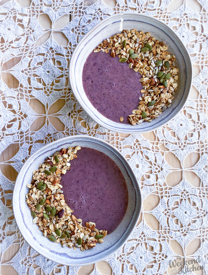 banana smoothie bowl recipe, vegan smoothie bowl