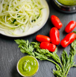 carrot-top pesto vegan, carrot greens recipe
