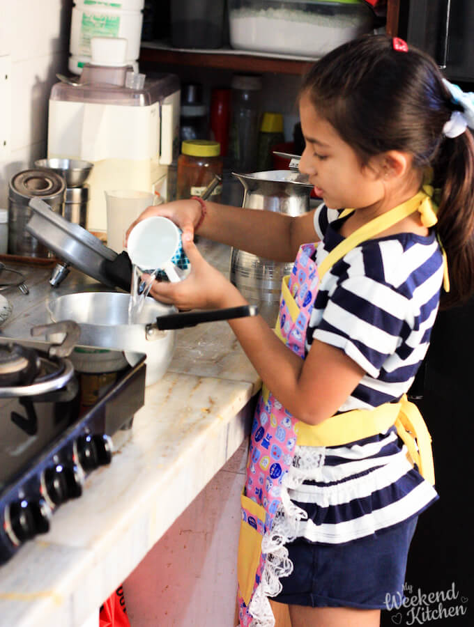 cooking with kids, children helping in the kitchen