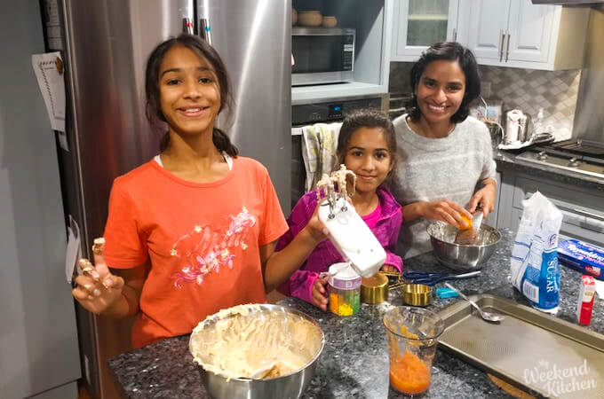 cooking with children, kids in the kitchen