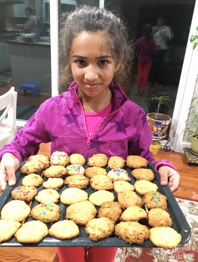 persimmon cookies, baking cookies with kids