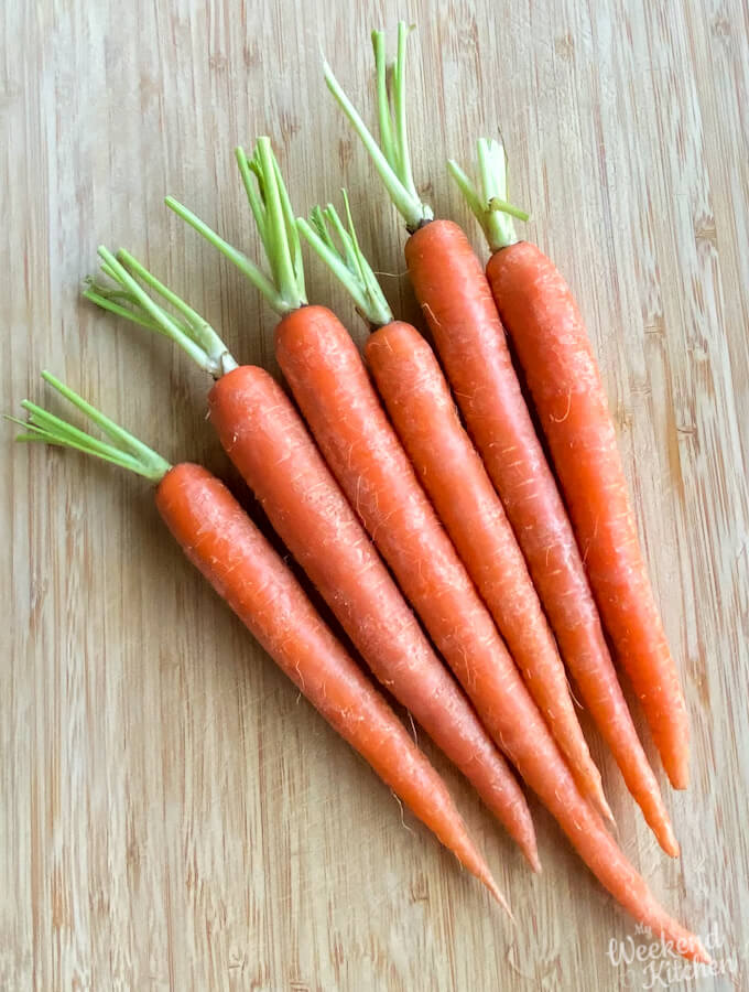 whole roasted carrots in oven