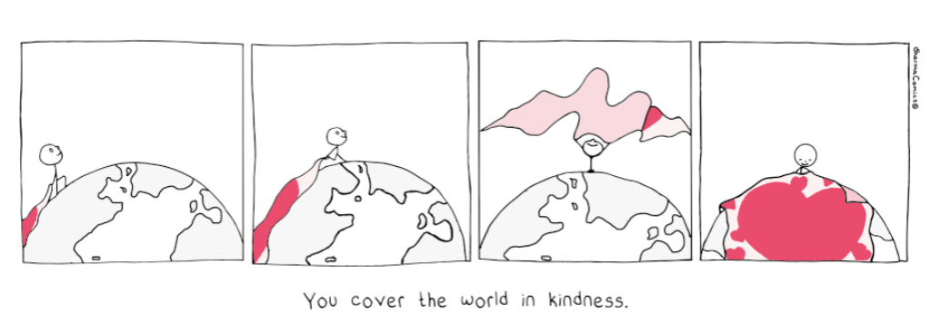 you cover the world in kindness - respond to Corona with karuna (compassion)