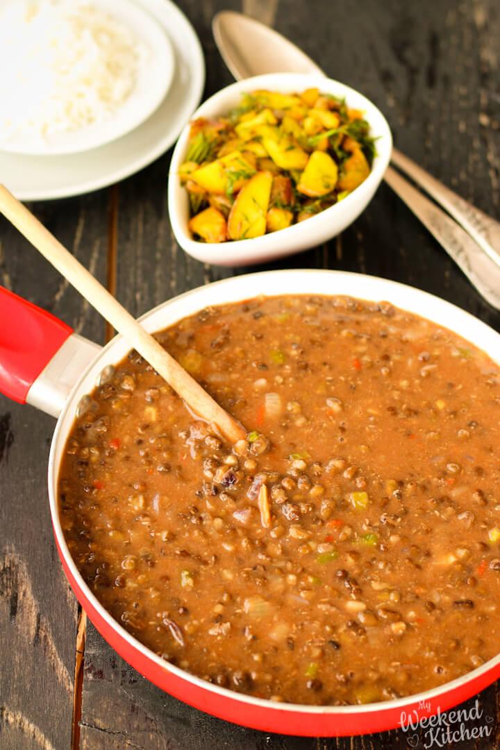 black gram dal, kali urad dal, black urad lentil curry recipe