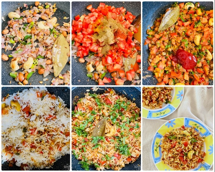 how to make tomato rice step by step photos