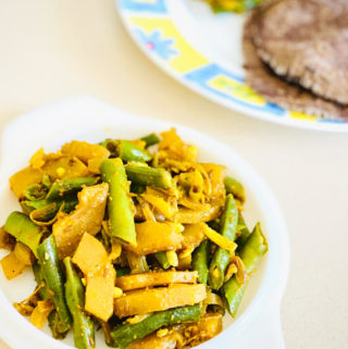 Kachri Phali Sabzi | Wild Cucumber & Beans veg fry