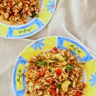 Tomato Rice | Leftover Rice Recipes