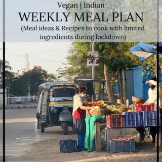 Weekly vegan meal plan and April updates