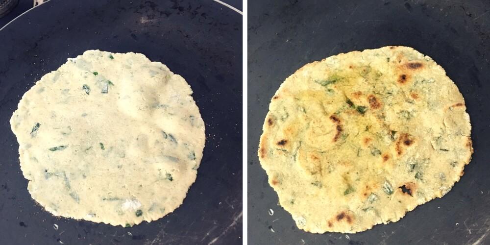 how to make jowar roti, sorghum flour flatbread