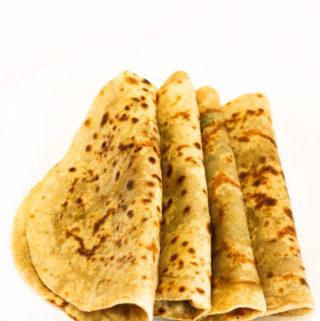 gobi paratha, stuffed Indian cauliflower bread