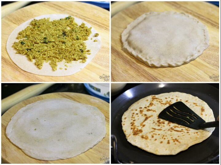 How to make stuffed paratha - step by step