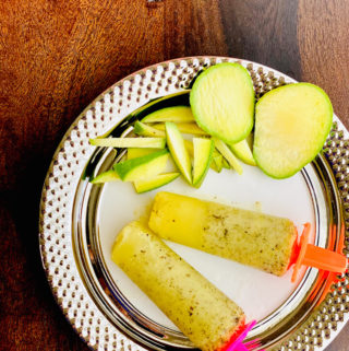 raw mango popsicle, indian ice-lollipop, mango chuski
