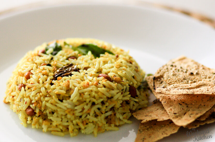 raw mango rice, south indian rice recipe, recipe with leftover rice