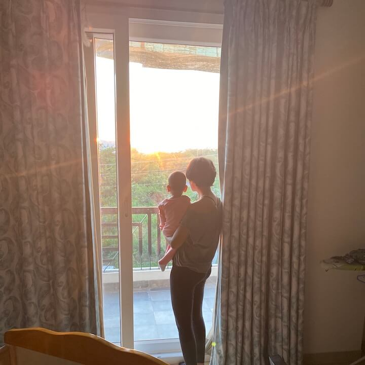 Watching sunrise with my daughter