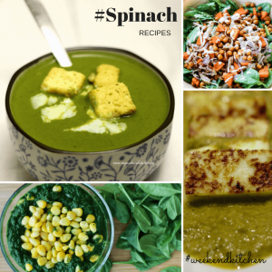 Spinach Recipes on My weekend kitchen by Ashima