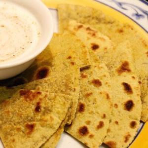 plain parantha - with yoghurt raita